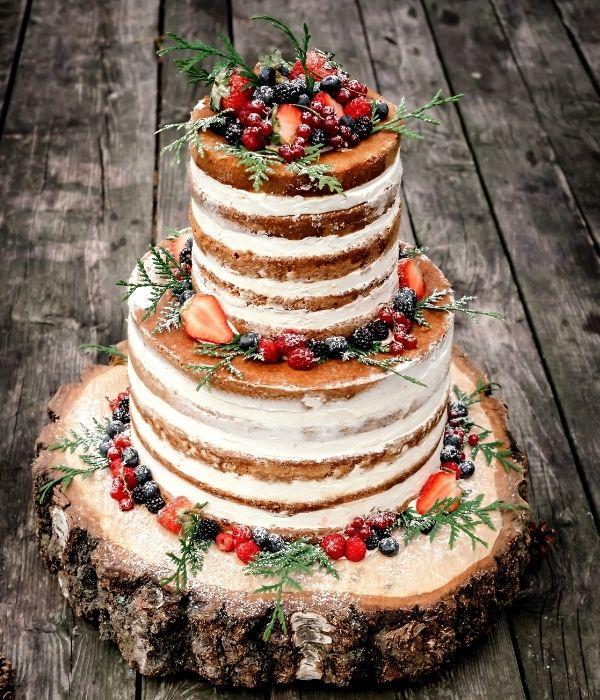Nuogi (nude, naked) vestuviniai tortai