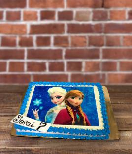 Tortas Ledo šalis - Frozen Elza ir Ana