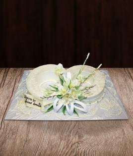 Tortas vestuviniai žiedai