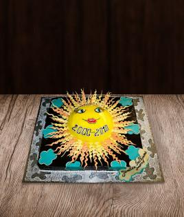 Vaikiškas tortas saulė