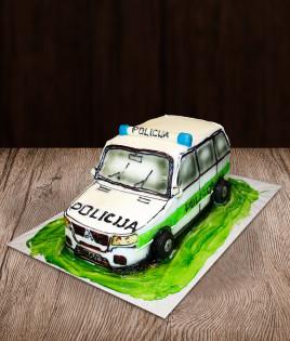 Tortas policijos automobilis