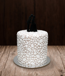 Vestuvinis tortas vieno aukšto