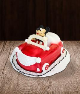 Tortas Mickie mouse automobilis