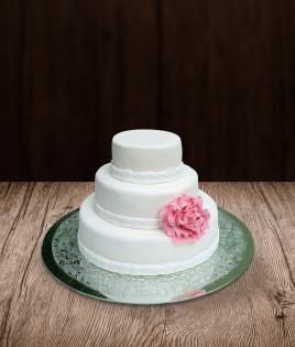 Vestuvinis tortas trijų aukštų