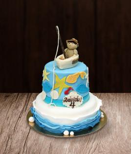 Vaikiškas tortas žvejys