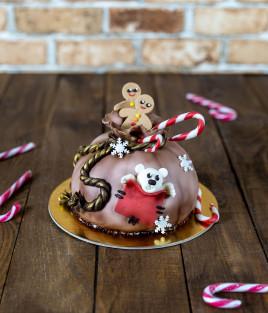 Kalėdinis Naujametinis tortas dovanų maišas