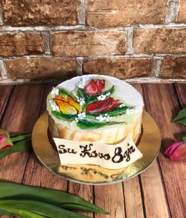 Tortas tulpės