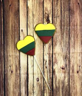 Meduolinės širdelės Lietuvai ant pagaliuko