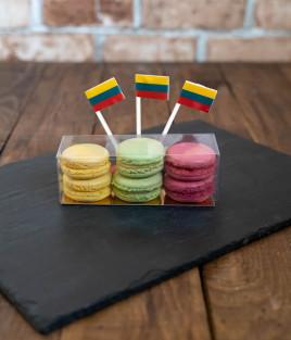 Sausainiai MAKARŪNAI (macarons) Lietuvai dėžutėje S