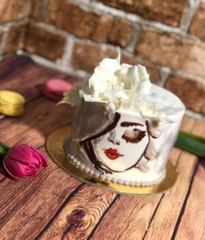 Moters dienos tortas gėlė