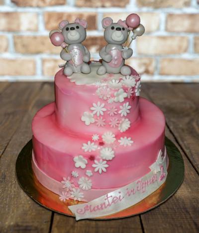 Tortas meškiukai su balionais