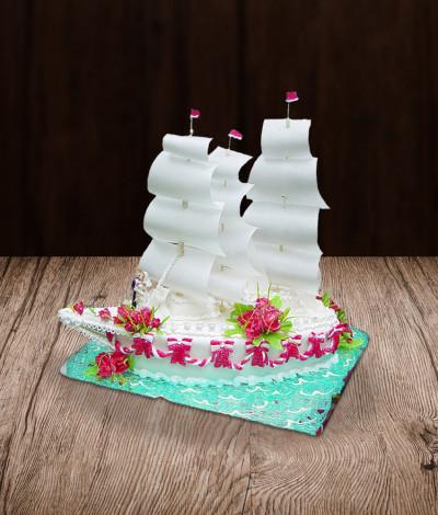 Vestuvinis tortas laivas jachta