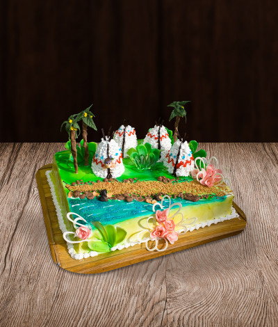 Vaikiškas tortas indėnai