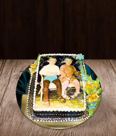 Gimtadienio tortas su nuotrauka