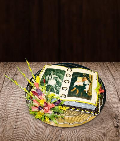 Jubiliejaus tortas su nuotrauka
