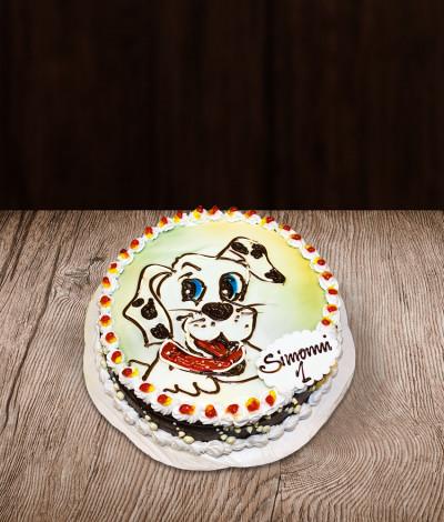 Vaikiškas tortas šuniukas