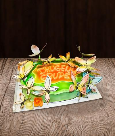 Vaikiškas tortas drugeliai