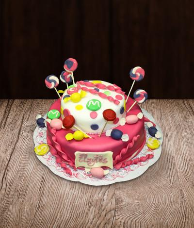 Vaikiškas tortas saldainiai