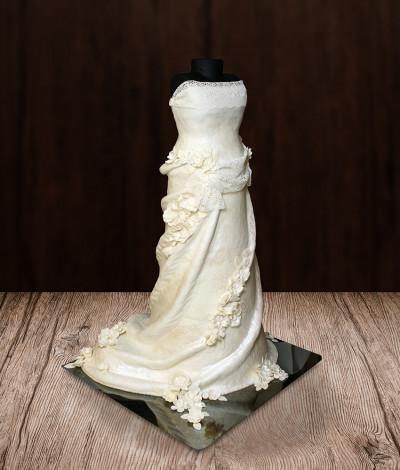 Vestuvinis tortas suknelė