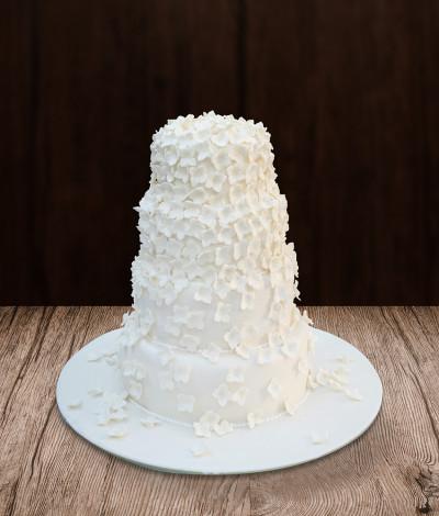 Vestuvinis tortas keturių aukštų