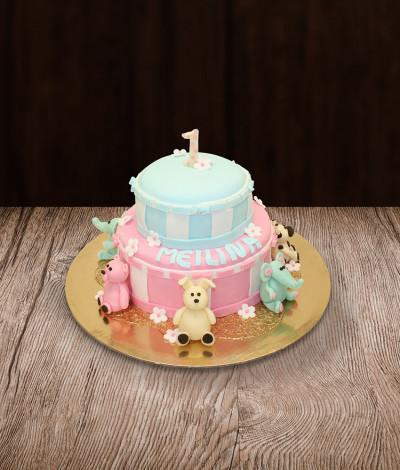 Vaikiškas tortas gyvūnai