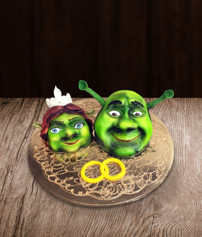 Tortas Šrekas ir Fiona (Shrek and princess Fiona)