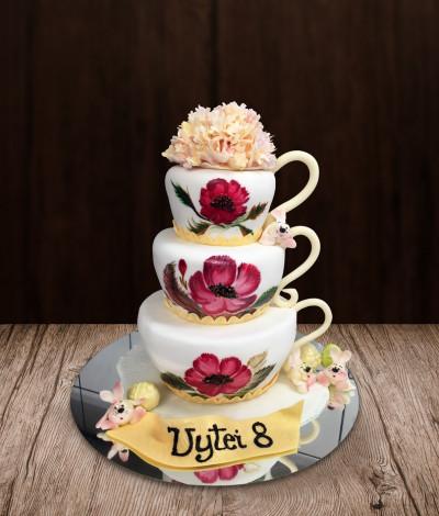 Tortas puodeliai