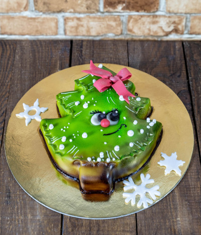 Kalėdinis Naujametinis tortas eglutė