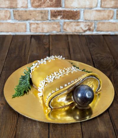 Kalėdinis Naujametinis tortas varpelis