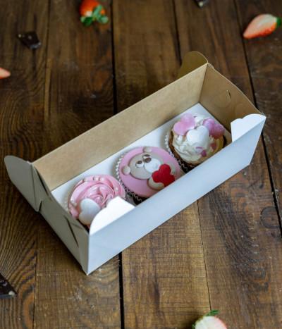 Valentino keksiukai dėžutėje (3 vnt)