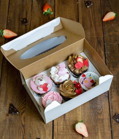 Valentino keksiukai dėžutėje (6 vnt)
