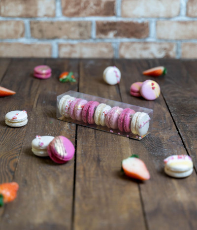 Sausainiai MAKARŪNAI (macarons) Valentino dienai dėžutėje S