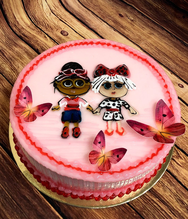 Vaikiškas tortas mergaitės