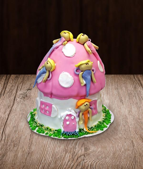 Tortas fėjų namelis