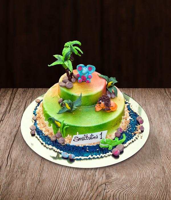 Vaikiškas tortas džiunglės
