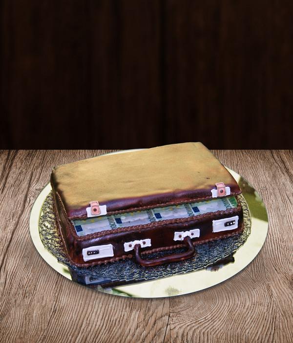 Tortas pinigų lagaminas
