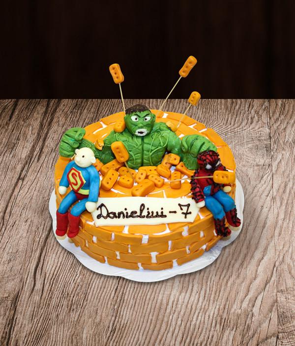 Tortas Hulk Spiderman Superman