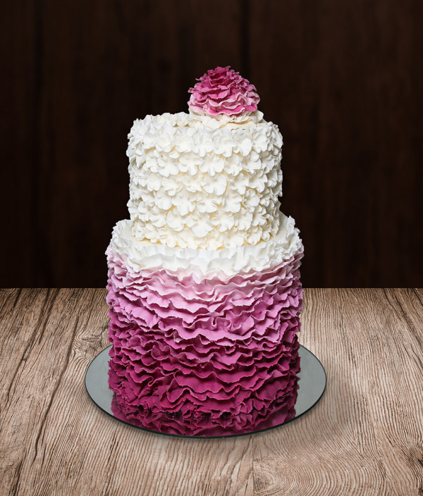 Vestuvinis tortas dviejų aukštų