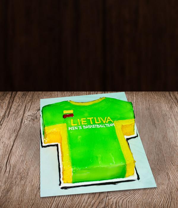 tortas krepšinio sirgalio marškinėliai