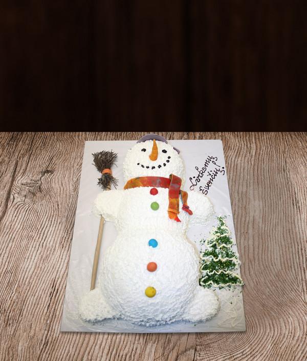 Kalėdinis Naujametinis tortas besmegenis