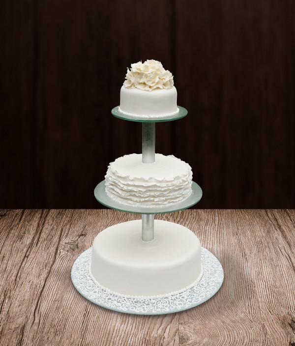 Vestuvinis tortas ant stovo