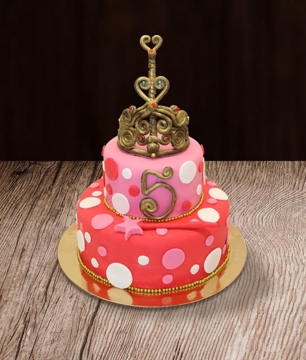 Vaikiškas tortas princesei