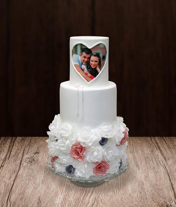 Vestuvinis tortas su nuotrauka