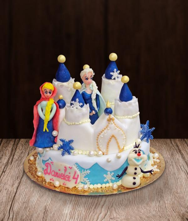 Tortas Ledo šalis - Frozen Elza, Ana ir Olafas