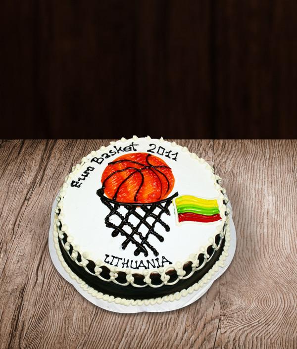 Tortas krepšinio tema