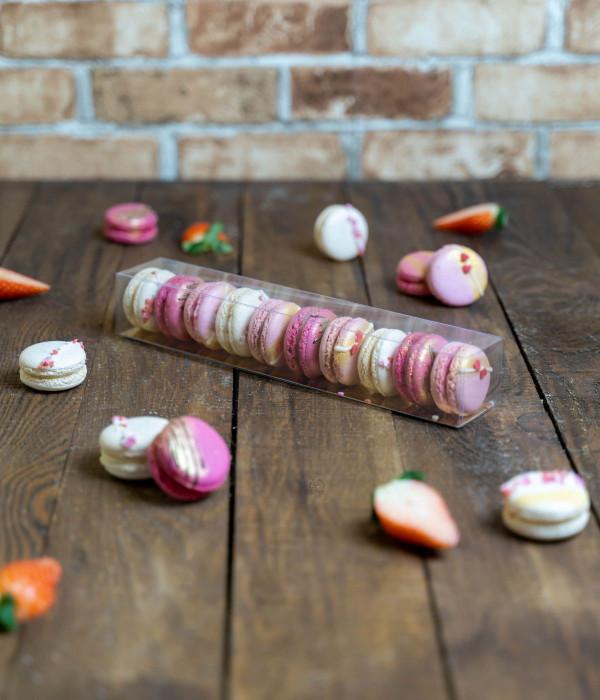 Sausainiai Makarūnai (Macarons) Valentino dėžutėje L